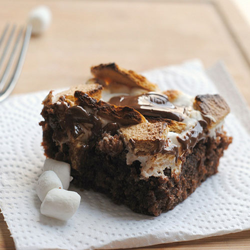 Toasted S'mores Brownie Bars